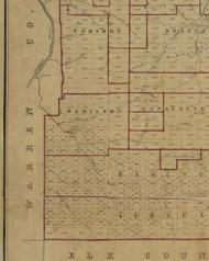 Hamilton Township, Pennsylvania 1856 Old Town Map Custom Print - McKean Co.