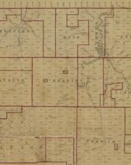 Keating Township, Pennsylvania 1856 Old Town Map Custom Print - McKean Co.