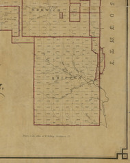 Shippen Township, Pennsylvania 1856 Old Town Map Custom Print - McKean Co.