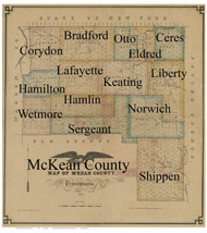 Title of Source Map - McKean Co., Pennsylvania 1857 - NOT FOR SALE - McKean Co.