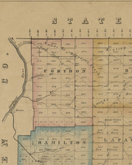 Corydon Township, Pennsylvania 1857 Old Town Map Custom Print - McKean Co.