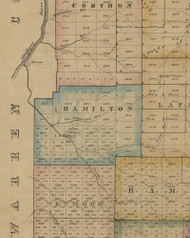 Hamilton Township, Pennsylvania 1857 Old Town Map Custom Print - McKean Co.