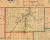 Bradford Township, Pennsylvania 1871 Old Town Map Custom Print - McKean Co.