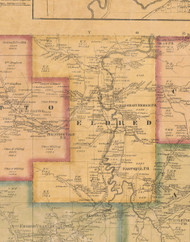 Eldred Township, Pennsylvania 1871 Old Town Map Custom Print - McKean Co.