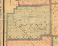 Hamilton Township, Pennsylvania 1871 Old Town Map Custom Print - McKean Co.