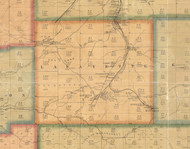 Lafayette Township, Pennsylvania 1871 Old Town Map Custom Print - McKean Co.