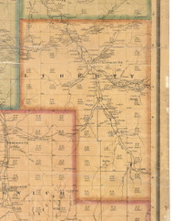 Liberty Township, Pennsylvania 1871 Old Town Map Custom Print - McKean Co.