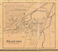 Bradford - McKean Co., Pennsylvania 1871 Old Town Map Custom Print - McKean Co.