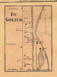 DeGrolier - McKean Co., Pennsylvania 1871 Old Town Map Custom Print - McKean Co.