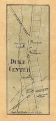 Duke Center - McKean Co., Pennsylvania 1871 Old Town Map Custom Print - McKean Co.