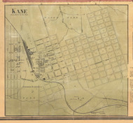 Kane - McKean Co., Pennsylvania 1871 Old Town Map Custom Print - McKean Co.