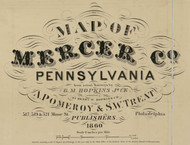 Title of Source Map - Mercer Co., Pennsylvania 1860 - NOT FOR SALE - Mercer Co.