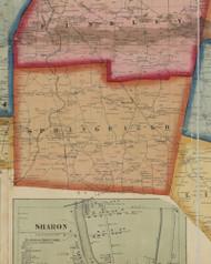 Shenango Township, Pennsylvania 1860 Old Town Map Custom Print - Mercer Co.
