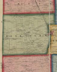 Sugar Grove Township, Pennsylvania 1860 Old Town Map Custom Print - Mercer Co.