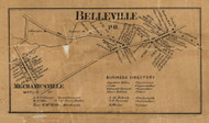 Belleville and Mechanicsville - Mifflin Co., Pennsylvania 1863 Old Town Map Custom Print - Mifflin Co.