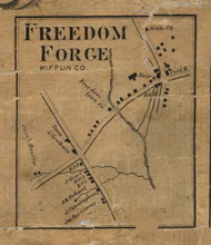 Freedom Forge - Mifflin Co., Pennsylvania 1863 Old Town Map Custom Print - Mifflin Co.
