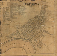 Lewiston - Mifflin Co., Pennsylvania 1863 Old Town Map Custom Print - Mifflin Co.