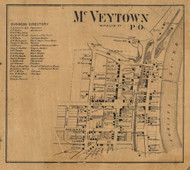 McVeytown - Mifflin Co., Pennsylvania 1863 Old Town Map Custom Print - Mifflin Co.