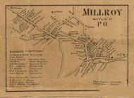 Milroy - Mifflin Co., Pennsylvania 1863 Old Town Map Custom Print - Mifflin Co.