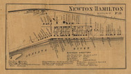 Newton Hamilton - Mifflin Co., Pennsylvania 1863 Old Town Map Custom Print - Mifflin Co.
