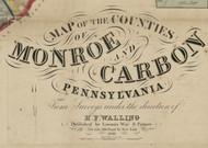 Title of Source Map - Monroe Co., Pennsylvania 1860 - NOT FOR SALE - Monroe Co.