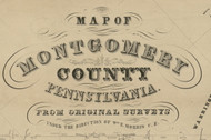Title of Source Map -  Montgomery Co., Pennsylvania 1849 - NOT FOR SALE - Montgomery Co.