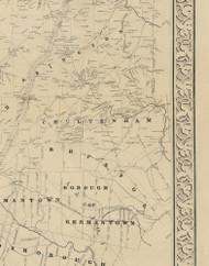 Cheltenham Township, Pennsylvania 1849 Old Town Map Custom Print - Montgomery Co.