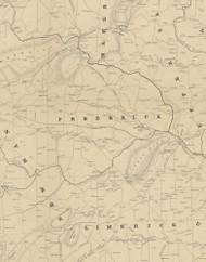 Frederick Township, Pennsylvania 1849 Old Town Map Custom Print - Montgomery Co.