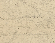 Gwynedd Township, Pennsylvania 1849 Old Town Map Custom Print - Montgomery Co.