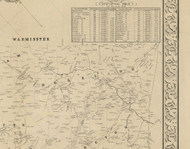 Moreland Township, Pennsylvania 1849 Old Town Map Custom Print - Montgomery Co.