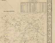 Moreland Township, Pennsylvania 1849 Old Town Map Custom Print - Montgomery Co.