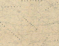Towamencin Township, Pennsylvania 1849 Old Town Map Custom Print - Montgomery Co.