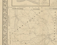 Upper Hanover Township, Pennsylvania 1849 Old Town Map Custom Print - Montgomery Co.