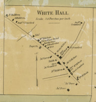 White Hall - Antony Township, Pennsylvania 1860 Old Town Map Custom Print - Montour Co.
