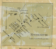Mooresburg - Liberty Township, Pennsylvania 1860 Old Town Map Custom Print - Montour Co.
