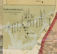 Limestoneville - Limestone Township, Pennsylvania 1860 Old Town Map Custom Print - Montour Co.