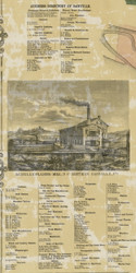 Danville Business Directory - Mahoning Township, Pennsylvania 1860 Old Town Map Custom Print - Montour Co.
