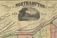 Title of Source Map - Northampton Co., Pennsylvania 1851 - NOT FOR SALE - Northampton Co.