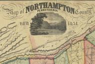 Title of Source Map - Northampton Co., Pennsylvania 1851 - NOT FOR SALE - Northampton Co.