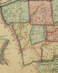 Allen Township, Pennsylvania 1851 Old Town Map Custom Print - Northampton Co.