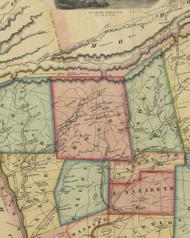 Moore Township, Pennsylvania 1851 Old Town Map Custom Print - Northampton Co.