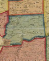 Bethlehem Township, Pennsylvania 1860 Old Town Map Custom Print - Northampton Co.