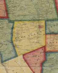 East Allen Township, Pennsylvania 1860 Old Town Map Custom Print - Northampton Co.