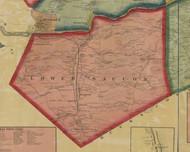Lower Saucon Township, Pennsylvania 1860 Old Town Map Custom Print - Northampton Co.