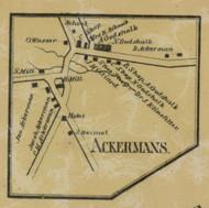 Ackermans - Northampton Co., Pennsylvania 1860 Old Town Map Custom Print - Northampton Co.