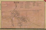 Bath - Northampton Co., Pennsylvania 1860 Old Town Map Custom Print - Northampton Co.