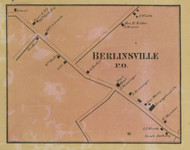 Berlinsville PO - Northampton Co., Pennsylvania 1860 Old Town Map Custom Print - Northampton Co.