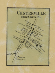 Centreville - Northampton Co., Pennsylvania 1860 Old Town Map Custom Print - Northampton Co.