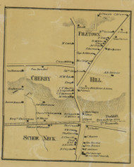Cherry Hill and Filetown and Schoe Neck - Northampton Co., Pennsylvania 1860 Old Town Map Custom Print - Northampton Co.