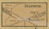 Delphsburg - Northampton Co., Pennsylvania 1860 Old Town Map Custom Print - Northampton Co.